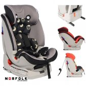 Norfolk Pro Baby Safe Isofixli 9 36 Kg Çocuk Oto Koltuğu Black Grey İsofix Sıps Latch Ece R44