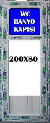 80x200 Buzlu Cam Wc Ve Banyo Kapısı