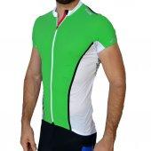 Gr Tex Profesyonel Bisikletçi Kısa Kollu Forma Yeşil Tişört Giyim