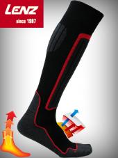 Orjinal Lenz Kırmızı Termal Çorap Uzun Konçlu