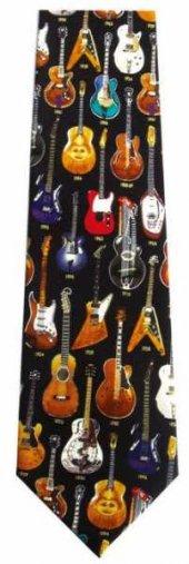 Renkli Gitarlar İpek Kravat