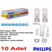Philips T10 Büyük Dipsiz 12v5w 10lu Paket 12961cp
