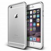 Verus İphone 6 Plus 6s Plus Iron Bumper Kılıf White Silver