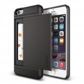 Verus İphone 6 Plus 6s Plus Damda Slide Kılıf Dark Silver