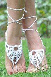 şık Beyaz Ayak Takısı Halhal Ayak Aksesuarı