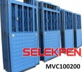 100x200 Mavi Çift Saç Demir Kapı Camsız
