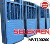 100x200 Mavi Tek Saç Demir Kapı Camsız