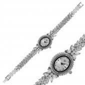 Gümüş Çiçekli Zirkon Bayan Saat