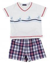 Kısa Pijama Beyaz