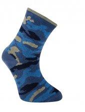 Kamuflaj Soket Çorap İndigo Kamuflaj