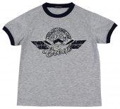 Kürek Baskılı T Shirt Açık Gri Melanj