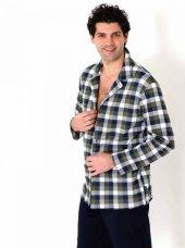 701w Pamuklu Yakalı Düğmeli Pijama Takımı