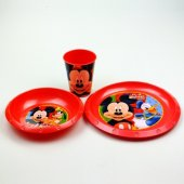 Mickey Mouse Tabak Kase Bardak Yemek Seti Hediyelik