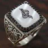 925 Ayar Gümüş Erkek Yüzük Allah Yazı Arapça Köşel...