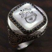925 Ayar Gümüş Erkek Yüzük Yuvarlak Kasa Hiç Hat Yazı