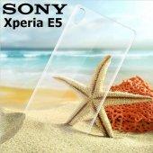 Sony Xperia E5 Şeffaf Esnek Silikon Kılıf