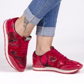 Kamuflaj Desen Kadın Ayakkabı
