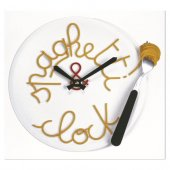 Spagetti Tabağı Duvar Saati Spaghetti Plate Wall Clock