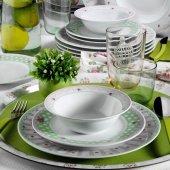 Kütahya Porselen 9380 Çiçekli 24 Parça Yemek Takımı