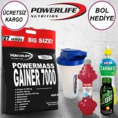 Powerlife Mass Gainer Karbonhidrat 7000 4590 Gr (3 Hediye)