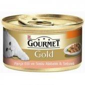 Pro Plan Gourmet Gold Parça Etli Soslu Alabalık Ve Sebzeli Kedi K