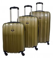 Tutqn Safari Kırılmaz Valiz 3 Lü Set Gold