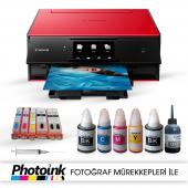 Photoink Mürekkepli Canon Pixma Ts9050 Yazıcı Ve Dolan Kartuş Sistemi