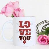 Kişiye Özel Beyaz Kupa Bardak (Sevgililer Günü Temalı 25)