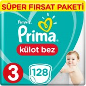 Prima Pants Külot Bebek Bezi 3 Beden Midi Jumbo 128 Adet