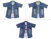 Tomurcukbebe Erkek Çocuk Çizgili Kot 2li Gömlek