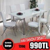 Mutfak Yemek Takımı Masa Sandalye Seti Açılır