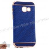Samsung Galaxy J5 Prime Kumaş Desenli Silikon Kılıf Mavi