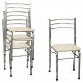 Sinem Kalın Profil Dayanıklı Metal Sandalye 4lü Takım Sncrm004
