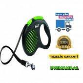 Flexi Design Tape M 5 Mt Yeşil Otomatik Köpek Gezdirme Tasması