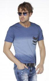 Eksi Bir Kamuflaj Apoletli Erkek Tişört