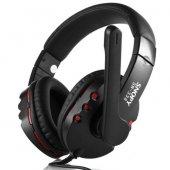 Snopy Sn 338 Siyah Kırmızı Mikrofonlu Kulaklık...