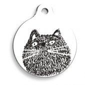 şaşkın Kedi Yuvarlak Kedi Künyesi