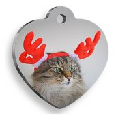 Pet Tag Art Pet Tag Art Yeni Yıl Ve Noel Serisi Deer Cat Kalp Kedi Künyesi