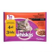 Whiskas Pouch Multipack Etli Çeşitli Yaş Kedi Maması 100 Gr