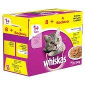 Whiskas Pouch Multipack Güveç Çeşitleri Yaş Kedi Maması