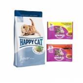 Happy Cat Junior Tavuk&somonlu Yavru Kedi Maması 4kg+whiskas Yaş