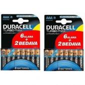 Duracell Turbo Max Alkalin Aaa İnce Kalem Pil 8&#039 Li Paket 2 Adet