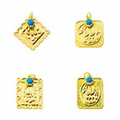 Allah Yazılı 14 Ayar Altın Maşallah