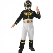 Power Rangers Siyah Çocuk Kostümü 3 4 Yaş