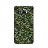 Samsung Alpha Kılıf Koyu Yeşil Kamuflaj Desenli Kılıf