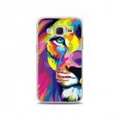 Samsung Core Prime Kılıf Renkli Aslan Desenli Kılıf