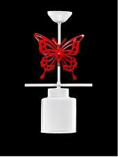 Sinem Avize Sıralı Kırmızı Kelebek Tekli Avize