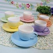 6 Kişilik Porselen Nescafe Fincan Takımı