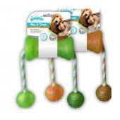 Köpekler İçin Kemirme Oyuncağı İpli Toplu Kemik 48 X 7 Cm