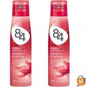 8x4 Sprey Deodorant Modern Charme 150ml Kadın 2 Adet